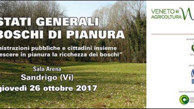 26 ottobre 2017 – STATI GENERALI DEI BOSCHI DI PIANURA – Sandrigo (VI), Sala Arena