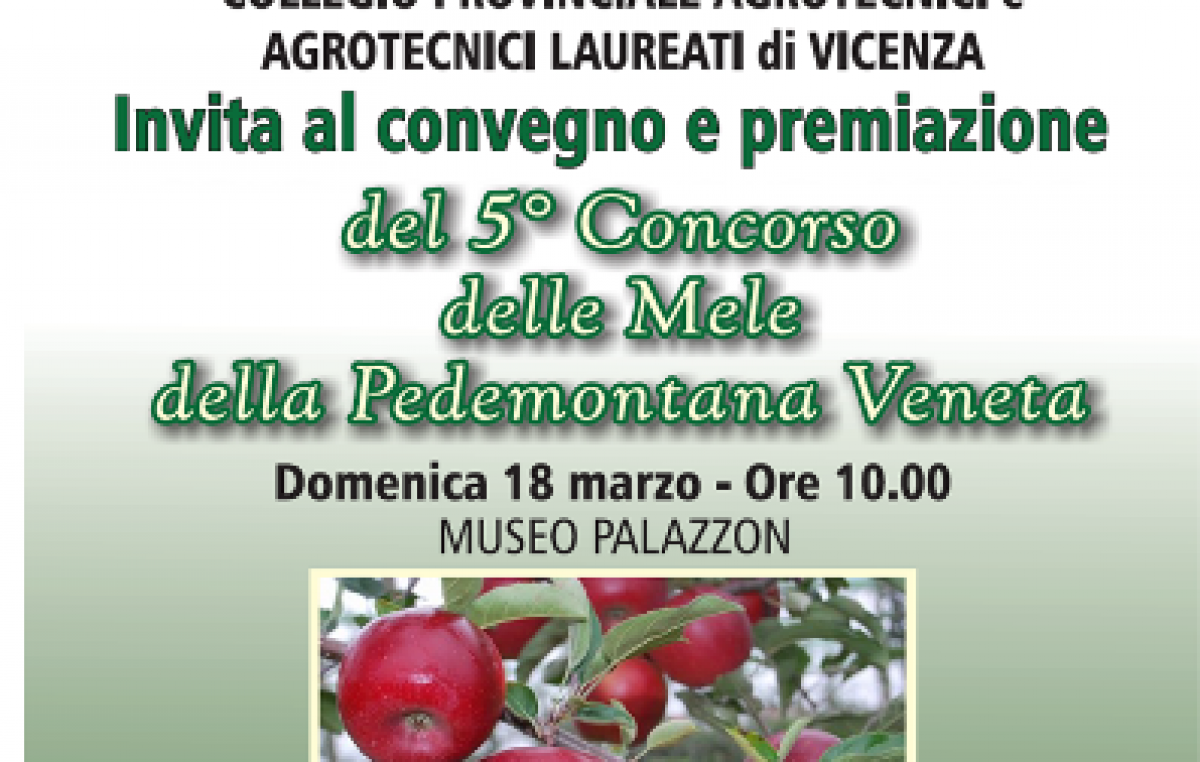 Convegno e Premiazione del 5° Concorso delle Mele della Pedemontana Veneta