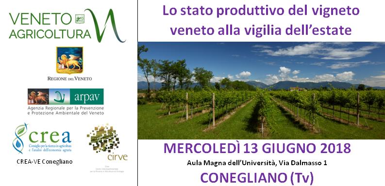 Primo appuntamento trittico vitivinicolo 2018 - 13 giugno - Conegliano