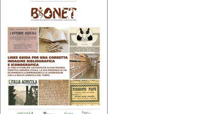 Programma BIONET – LINEE GUIDA PER UNA CORRETTA INDAGINE BIBLIOGRAFICA E ICONOGRAFICA