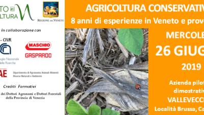 AGRICOLTURA CONSERVATIVA: 8 anni di esperienze in Veneto e prove 2019