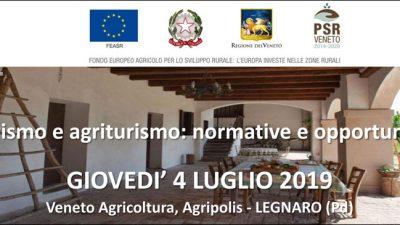 Turismo e agriturismo: normative e opportunità (cod. 2A-29-19)