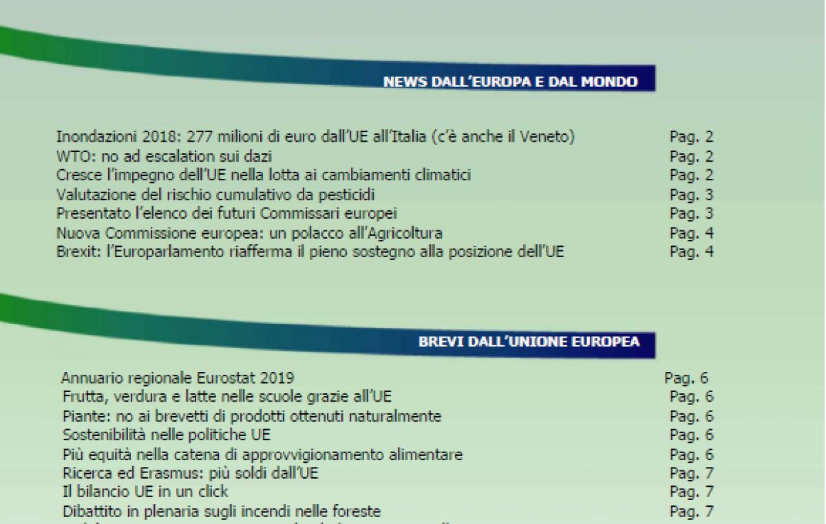 VENETO AGRICOLTURA EUROPA N. 9/2019