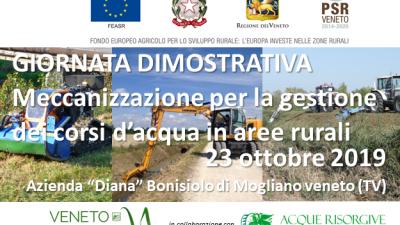 GIORNATA DEMO – Meccanizzazione per la gestione dei corsi d'acqua in aree rurali