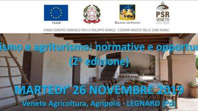 Turismo e agriturismo: normative e opportunità – 2a edizione (cod.2A-39-19)