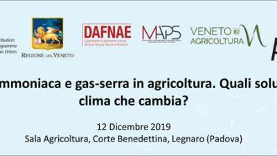 Emissioni di ammoniaca e gas-serra in agricoltura. Quali soluzioni per un clima che cambia?