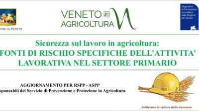 Sicurezza sul lavoro in agricoltura: aggiornamento intertematico per le attività del settore primario (cod.6-19)