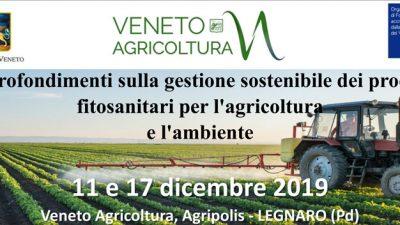 Approfondimenti sulla gestione sostenibile dei prodotti fitosanitari per l'agricoltura e l'ambiente – Aggiornamento per consulenti difesa fitosanitaria (cod.5-19)