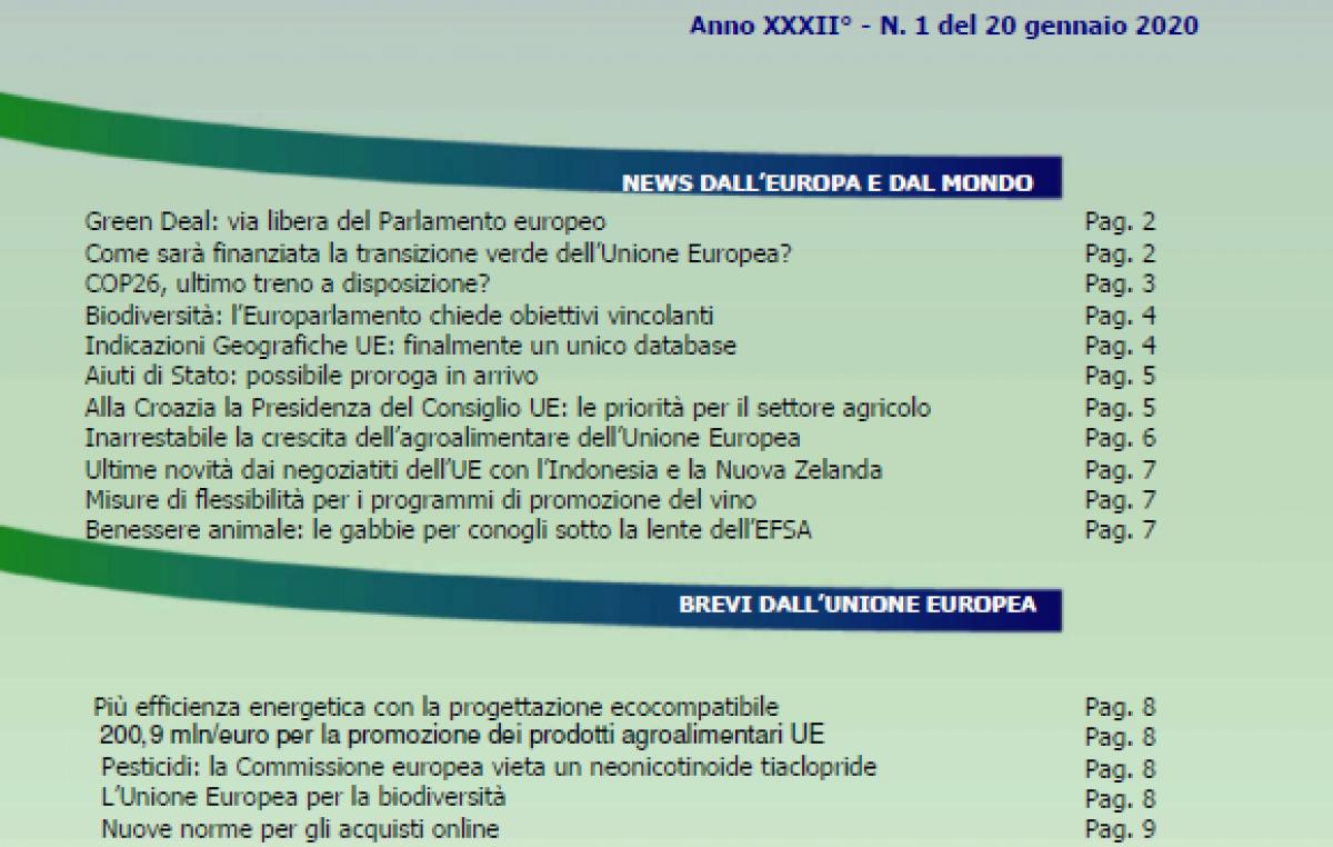 VENETO AGRICOLTURA EUROPA N. 01/2020