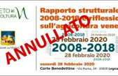 ***EVENTO IN CORTE BENEDETTINA ANNULLATO***