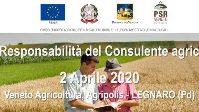 La responsabilità del Consulente agricolo (cod.2A-28-20) – RINVIATO A DATA DA DESTINARSI
