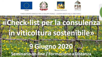 Check list per la consulenza in viticoltura sostenibile (cod.P4-05-20)
