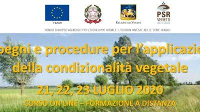 Impegni e procedure per l'applicazione della condizionalità vegetale