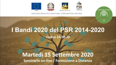 I Bandi 2020 del PSR 2014-2020