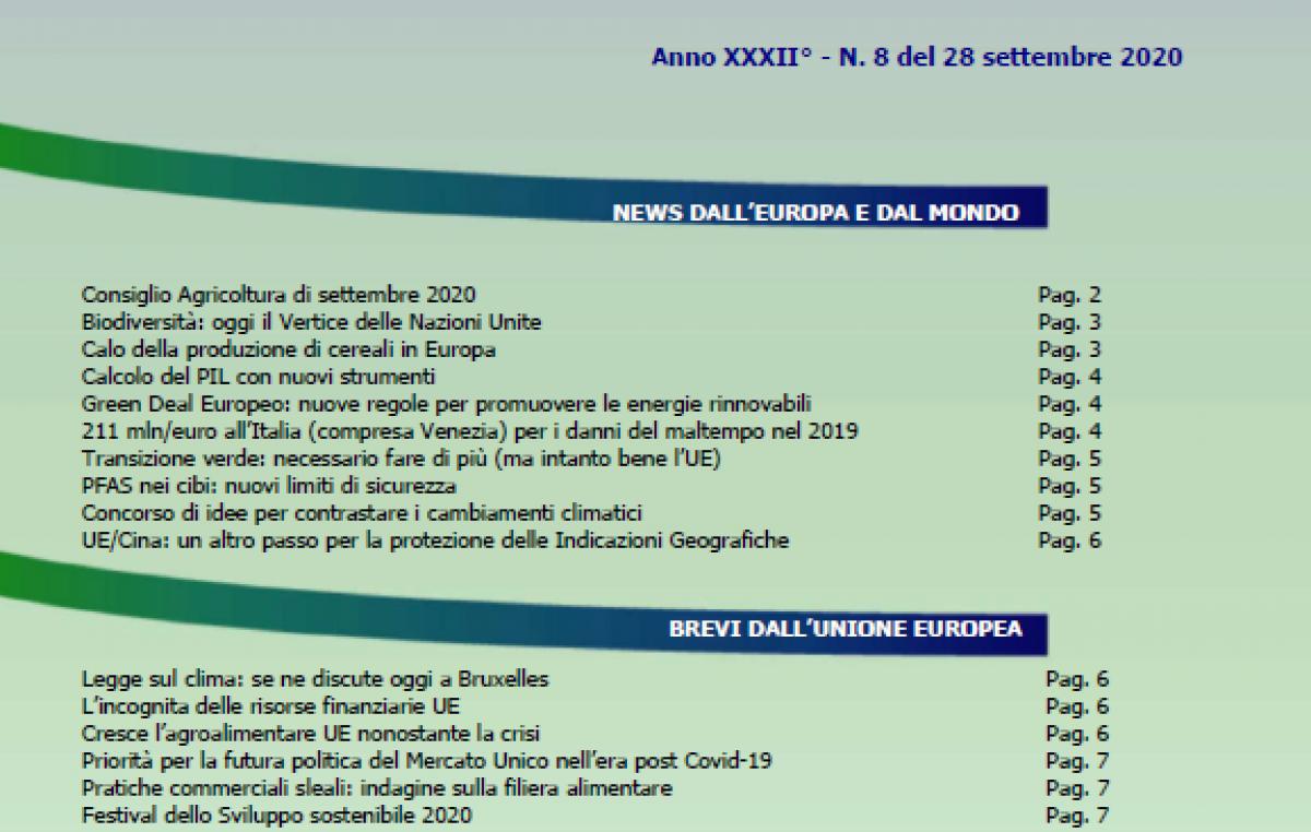 Veneto Agricoltura Europa n. 8/2020