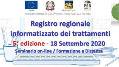 Registro regionale informatizzato dei trattamenti – 5ª edizione