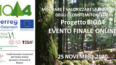 Progetto BIOΔ4 – EVENTO FINALE ONLINE