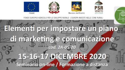 Elementi per impostare un piano di marketing e comunicazione