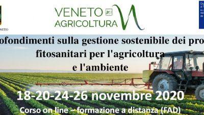 Approfondimenti sulla gestione sostenibile dei prodotti fitosanitari per l'agricoltura e l'ambiente – Seconda edizione 2020