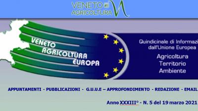 Veneto Agricoltura Europa n. 5 del 19 marzo 2021