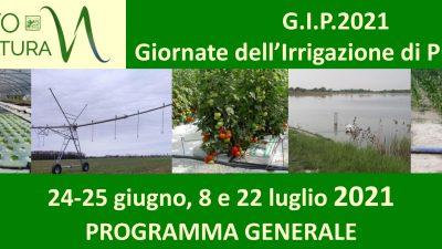 G.I.P. 2021 – Giornate dell'Irrigazione di Precisione – PROGRAMMA GENERALE