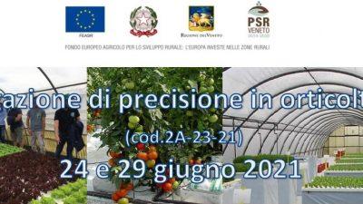 Irrigazione di precisione in orticoltura (corso online Zoom)