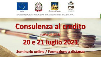 Consulenza al credito (edizione 2021)