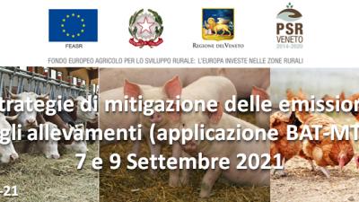 Strategie di mitigazione delle emissioni negli allevamenti (applicazione BAT-MTD)