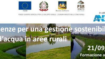 Esperienze per una gestione sostenibile dei corsi d'acqua in aree rurali