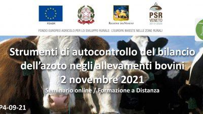 Strumenti di autocontrollo del bilancio dell'azoto negli allevamenti bovini